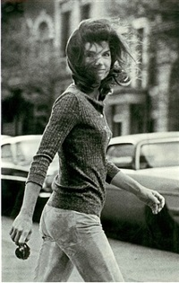 windblown jackie, new york by ron galella