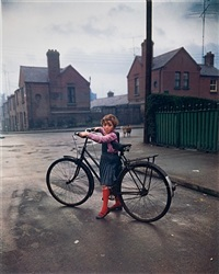 girl with bicycle, dublin by evelyn hofer