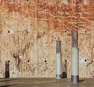 pared en construccion by gerardo pita