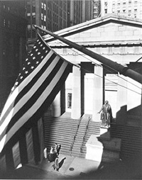 treasury building from j.p. morgan's office by berenice abbott
