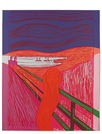 the scream (after munch) by andy warhol