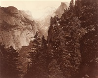 tenaya canyon, valley of the yosemite (from union point) by eadweard muybridge