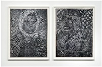sumerians #4 diptych by dinh q. lê