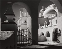 arches, north court, mission san xavier del bar, tucson, arizona, pl.2 (from portfolio vii) by ansel adams