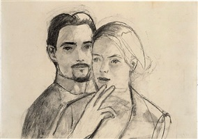 juan and oona by alex katz