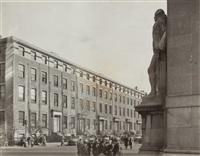 washington statue in washington square by berenice abbott