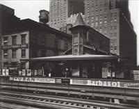 barclay street station by berenice abbott