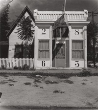 façade of house with large numbers by walker evans