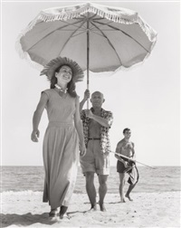 pablo picasso and françoise gilot golfe-juan, august by robert capa