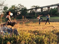 kung fu fighters by justine kurland