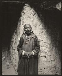 pilgrim, hemis monastery, ladakh, india, by linda connor