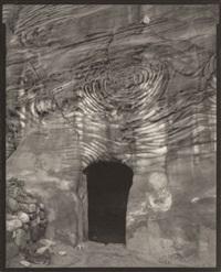 tomb, doorway, petra, jordan, by linda connor