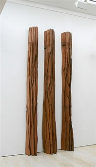 three red columns: deepcut by david nash
