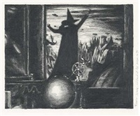 hexen 2039/graphite/tower scene, wizard of oz, mgm, 1939 by suzanne treister