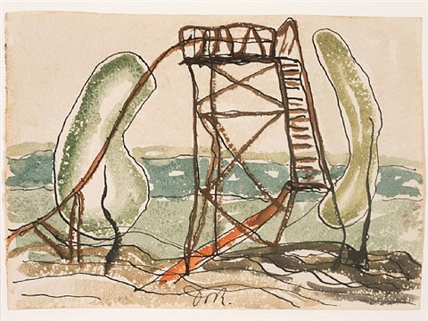 waterslide by arthur dove
