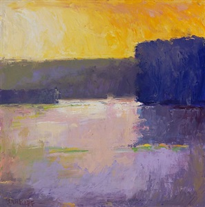 purple pond (sold) by ira barkoff
