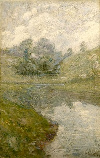 landscape, connecticut by john henry twachtman