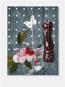 blossom with pepper mill and butterflies by damien hirst