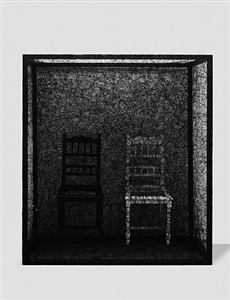 state of being (2 chairs) by chiharu shiota
