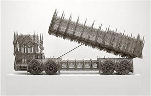 dump truck (scale model 1:4,75) by wim delvoye