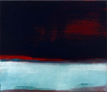 blueish horizon by leiko ikemura