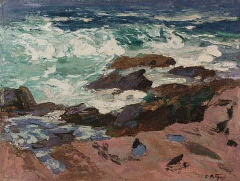 wild surf by edward henry potthast