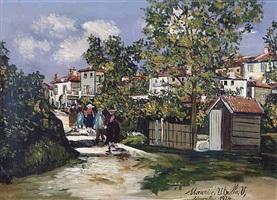 paysage à saint-bernard by maurice utrillo