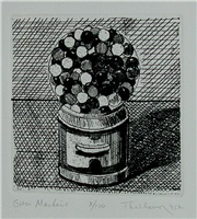 gumball machine (sold) by wayne thiebaud
