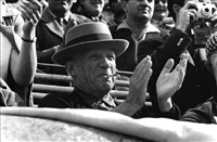 pablo picasso, bullfight, nîmes, france, 1957 by rené burri