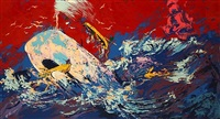 red sky by leroy neiman