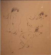one nude, three studies by albert york