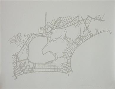 planta do rio de janeiro - from the series invisible cities by rosana ricalde