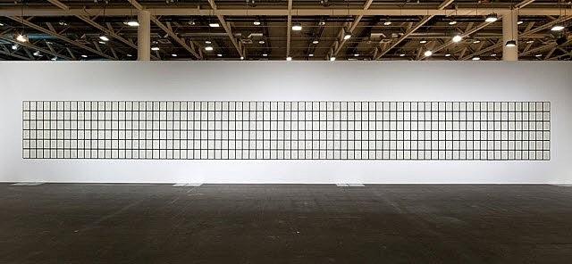 installation view 'hanne darboven. der sand', art basel by hanne darboven