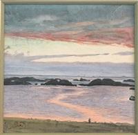 paysage de bord de mer by frantisek kupka