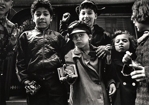 baseball cards, new york by william klein