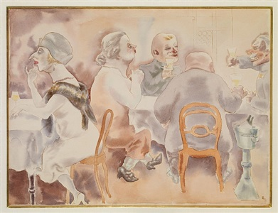 recent acquisitions by george grosz