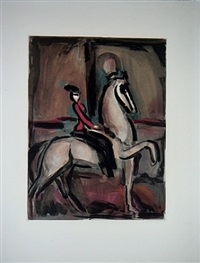 cirque - amazone by georges rouault