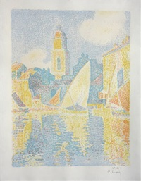 port de saint-tropez by paul signac