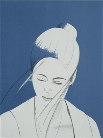 pamela pamela in blue by alex katz