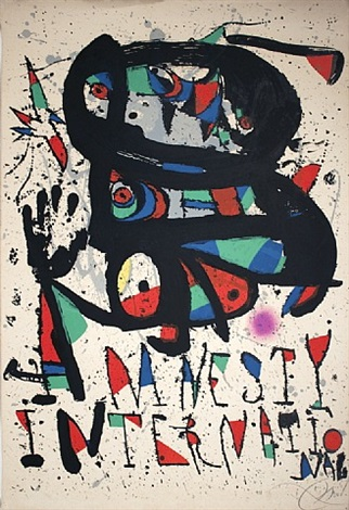 amnesty international-signed by joan miró