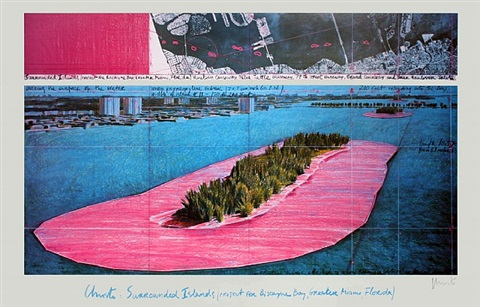 surrounded islands, miami-signed by christo and jeanne-claude