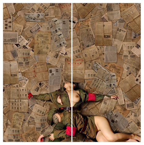 memory of time no 1 no 2 diptych by tian taiquan