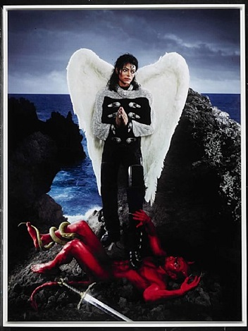 american jesus: archangel michael jackson<br>and no message could have been any clearer by david lachapelle