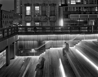 sitting on the high line, thursday, november 10th, 2011 by matthew pillsbury