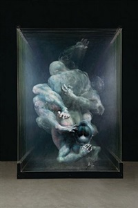double human figure by xia xiaowan
