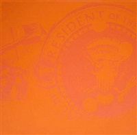 flash orange presidential seal (trial proof) by andy warhol