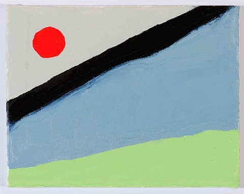 untitled, # 133 by etel adnan