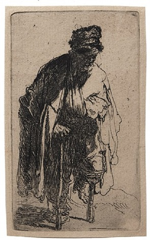 beggar with a wooden leg by rembrandt van rijn
