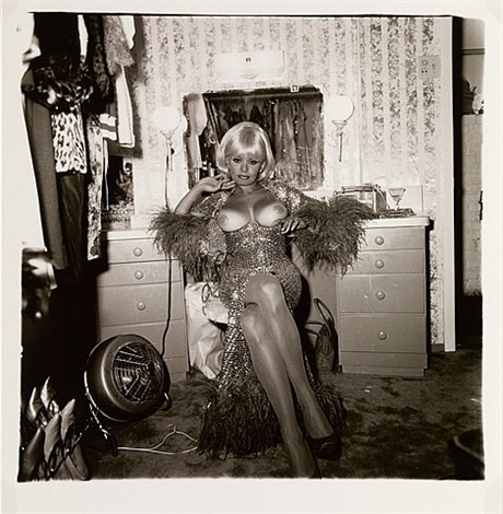 topless dancer in her dressing room, san francisco, ca by diane arbus