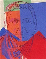 gertrude stein (from the ten portraits of jews portfolio) by andy warhol